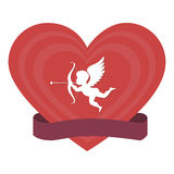 Cupid angel love card Royalty Free Stock Photography