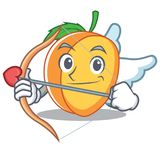 Cupid Apricot Character Cartoon Style Royalty Free Stock Photos