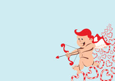 Cupid with arch and arrow Royalty Free Stock Images