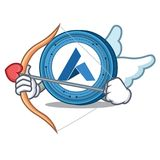 Cupid Ardor coin character cartoon. Vector illustration Stock Images