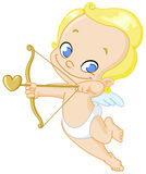 Cupid with arrow Royalty Free Stock Photography
