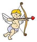Cupid with arrow vector Royalty Free Stock Images