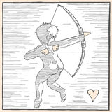 Cupid back Royalty Free Stock Photography