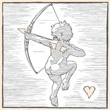Cupid back two Royalty Free Stock Photography
