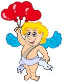 Cupid with balloons royalty free stock photos