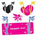 Cupid Banner Royalty Free Stock Photography