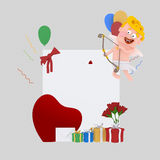 Cupid banner plackard. 