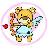 Cupid bear cartoon valentine days Royalty Free Stock Photos