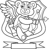 Cupid bear is looking for a target for their arrows Stock Photo