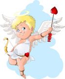 Cupid. The beautiful cupid who shoots a love arrow royalty free illustration