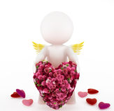Cupid with a big heart Royalty Free Stock Images