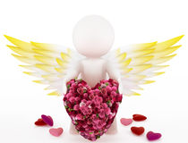 Cupid with a big heart Stock Photo