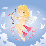 Cupid bonito Fotos de Stock Royalty Free