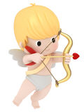 Cupid with bow and arrow Royalty Free Stock Image
