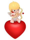 Cupid with bow and arrow Royalty Free Stock Images