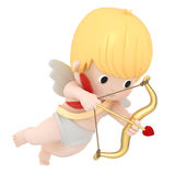 Cupid with bow and arrow Stock Photography