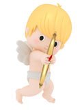 Cupid with bow and arrow. 3D render of cupid with bow and arrow Stock Photos