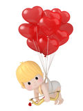 Cupid with bow and arrow. 3D render of cupid with bow and arrow Royalty Free Stock Photography