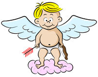 Cupid with bow and arrow Stock Image