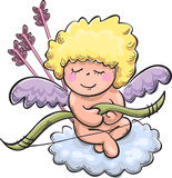 Cupid with bow and arrows Royalty Free Stock Photography