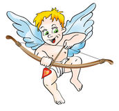 Cupid with bow Stock Photos