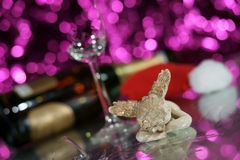 Cupid with broken glass Stock Photography