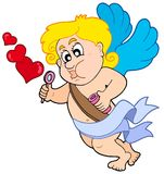 Cupid with bubble maker Royalty Free Stock Photos
