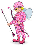 Cupid in camouflage Royalty Free Stock Photos