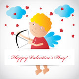 Cupid card Stock Photo
