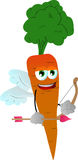 Cupid carrot Stock Image