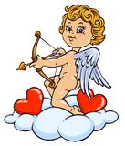 Cupid Cartoon Illustration - Color. Version Royalty Free Stock Photo