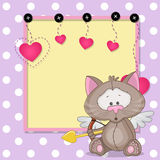 Cupid Cat with frame Stock Image