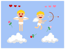 Cupid. Character for animation. Vector. Character for animation, fully prepared for use. Merry Cupid, Valentine`s Day Stock Image