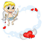 Cupid on cloud Royalty Free Stock Images