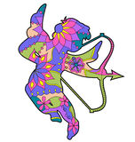 Cupid colorful Stock Images