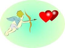 Cupid con el arco Foto de archivo libre de regalías