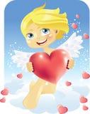 Cupid con el corazón Fotografía de archivo libre de regalías