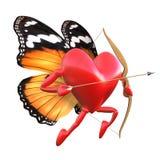 Cupid con le ali della farfalla. illustrazione di stock