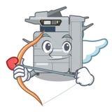 Cupid copier machine in the cartoon shape. Vector illustration royalty free illustration
