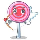 Cupid cute lollipop character cartoon. Vector illustration Royalty Free Stock Photography