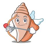 Cupid cute shell character cartoon Royalty Free Stock Photo