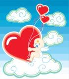Cupid de la tarjeta del día de San Valentín ilustración del vector