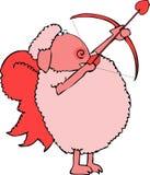 Cupid de las ovejas ilustración del vector