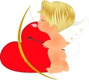 Cupid de Lil no treinamento Imagens de Stock Royalty Free