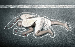 Cupid dead after car accident Stock Images