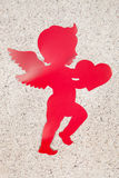 Cupid. A cupid decoration for the Valentine`s Day celebration stock image