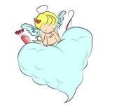 Cupid del bebé en la nube Stock de ilustración