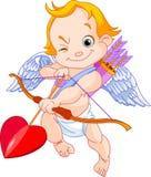 Cupid del biglietto di S. Valentino Fotografia Stock Libera da Diritti