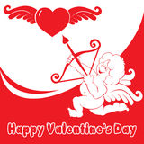 Cupid del día de tarjeta del día de San Valentín Imagen de archivo libre de regalías