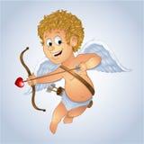 Cupid del día de tarjeta del día de San Valentín Foto de archivo libre de regalías
